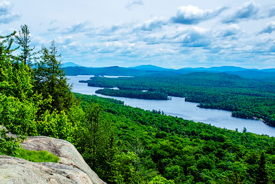 Fourth Lake from Bald Mountain near Old Forge