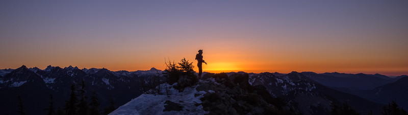 Summit pause on Mt. Defiance, Alpine Lakes Wilderness, WA