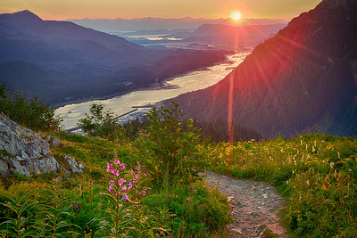 Sunset on Mt Robert's Trail, Juneau, Alaska