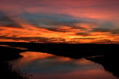 San Luis Pass Sunset, Texas - January 2017