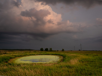 Storm Over a Wisconsin Prairie