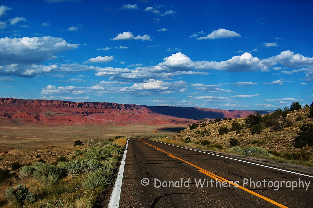 Road Through Vermillion Cliffs