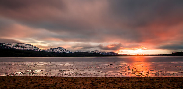 Sunset over Loch Morlich