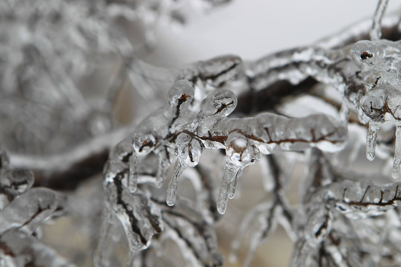 Ice storm, Fairley, Texas