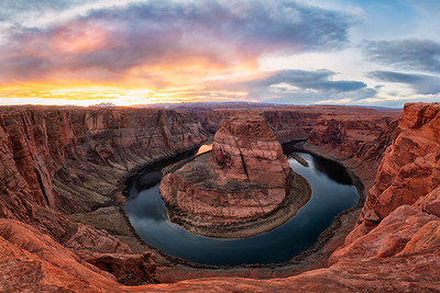 Dusk at Horseshoe Bend
