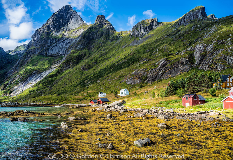 Photo 3331: Norway: Lofoten Island Moskenesoya, Forsfjiorden & Brynliskartinden