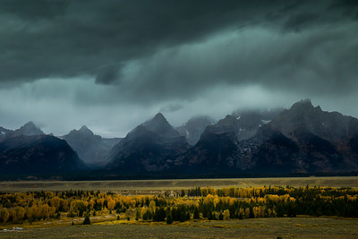 Dark Day Over the Tetons