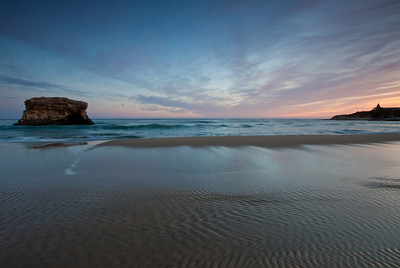 The final shot at Natural bridges before the light was gone. The blue light from the sky reflected off the water.