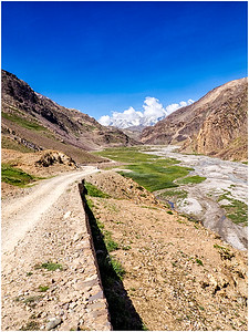 Curves, Kaza to Manali, HP, India