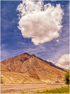 Clouds kissing mountain, Tabo Dhankar, HP, India