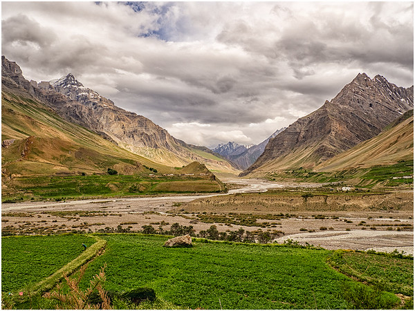 Dhankar-Pin Valley Landscape, HP, India