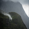Upward Waterfall, Milford Sound, New Zealand