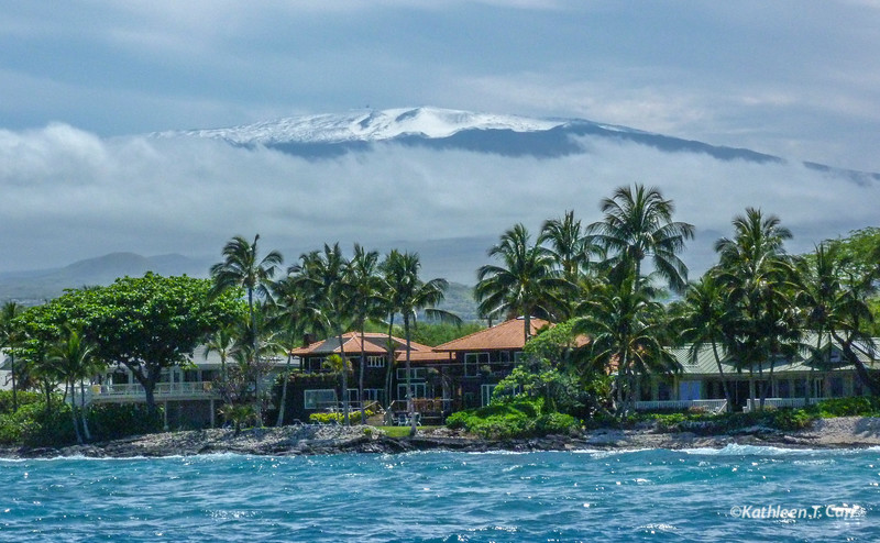 Snowcapped Mauna Kea and Ocean