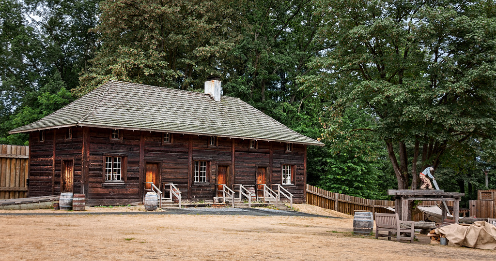 One of the buildings in the Fort at Fort Langley, BC.