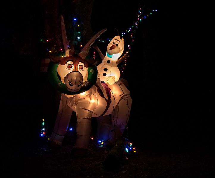 Christmas blow-up reindeer.
