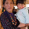 A woman with her grandchild in the village of Langtang. / Langtang Himal, Nepal