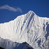 The spectacular fluted summit of Gangchenpo is one of the Langtang Himal's most striking peaks. / Langtang Himal, Nepal