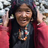 An elderly woman on the trail to Langtang Village. / Langtang Himal, Nepal