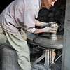 A potter making ceramic vessels in Bhaktapur. / Kathmandu, Nepal