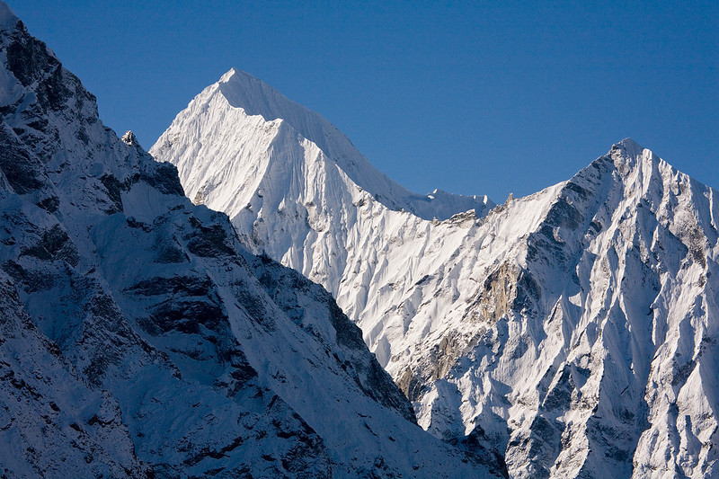 The sharp and icy lines of Gangchenpo as seen from Drichung Phu in the Upper Langtang Valley. / Langtang Himal, Nepal