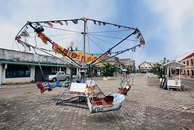 Amusement Park, Old Town Square,   Savannakhet,  Laos