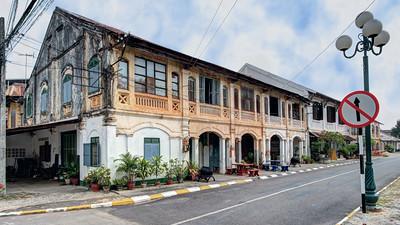 French Colonial Shophouses,   Savannakhet,  Laos