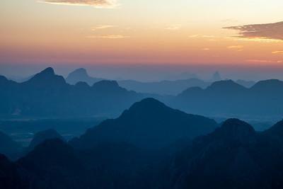 Mountain mists of Laos