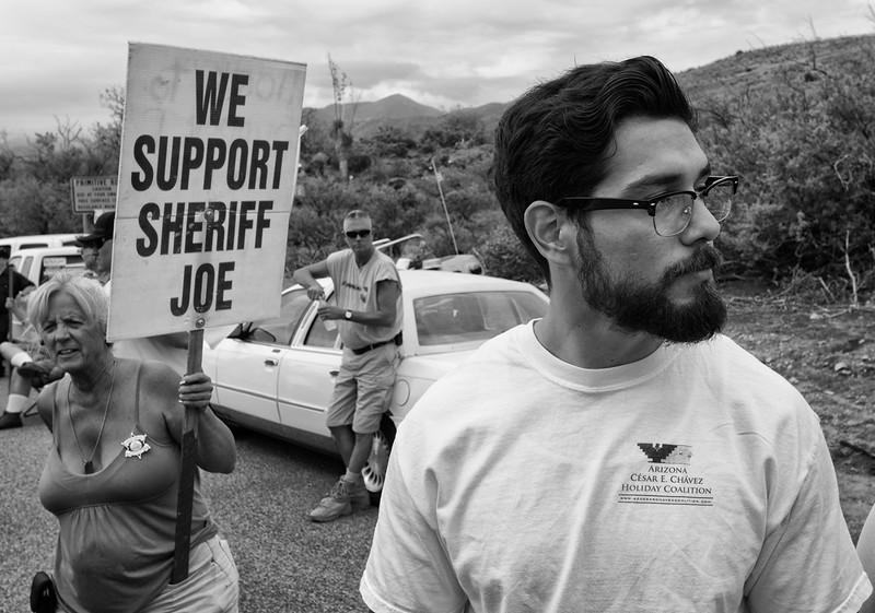 Anti-immigration rally, Oracle, Arizona.©Bob Torrez