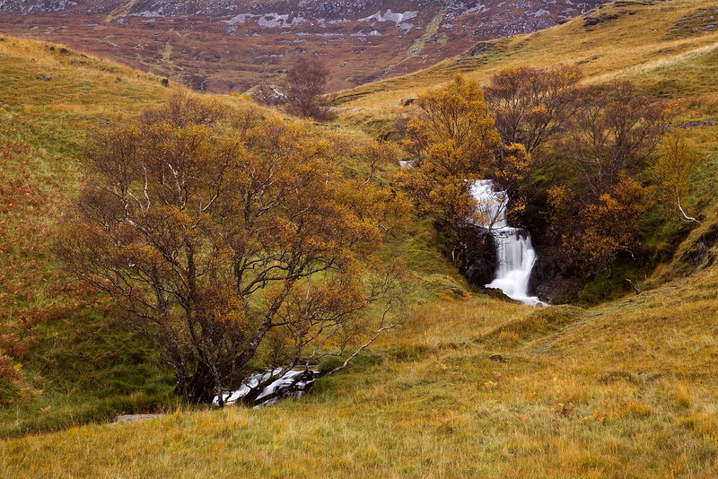 Small Waterfall at Assynt. Sutherland. Scotland.