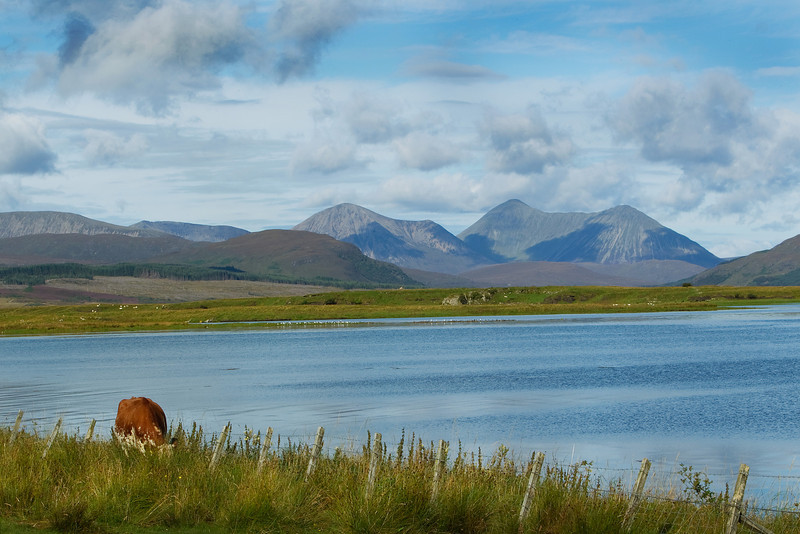 Red Cuillins of Skye Scotland. Mountain. Beinn na Caillich.