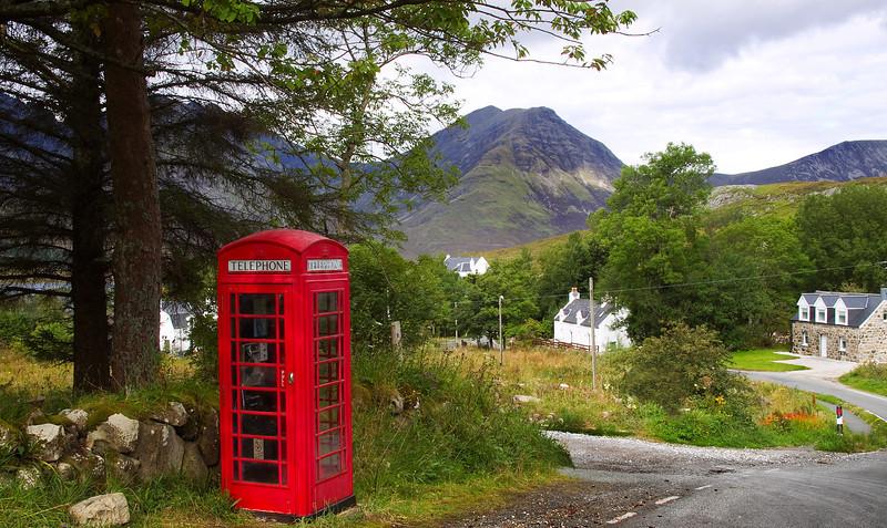 Old Telephone Box Skye Scotland.