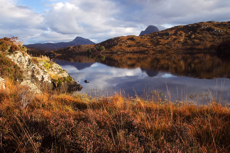 The Mountains of Canisp and Suilven in the background.
