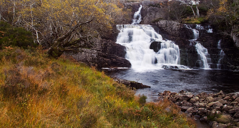 A Waterfall at Assynt. Sutherland. Scotland.