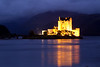 Eilean Donan castle with the lights on.