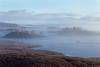 Rannoch Moor. Early morning mist. Scotland.