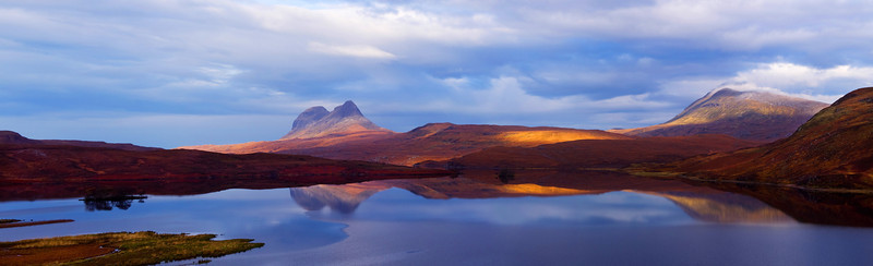 Suilven and Canisp. West coast of Scotland. John Chapman.