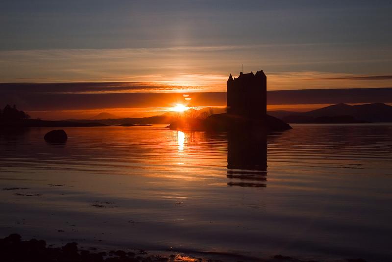 Stalker Castle Near Ballachulish Village. Scotland.