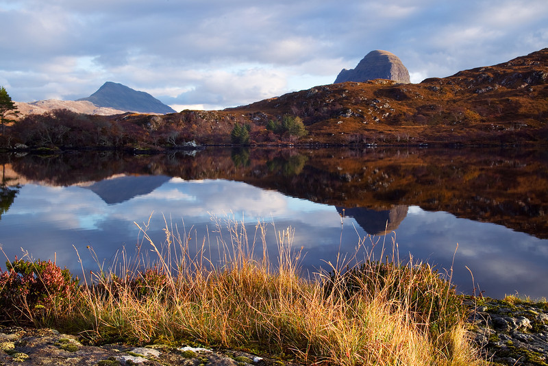 The Mountains of Canisp and Suilven in the background. Assynt. Sutherland. Scotland.