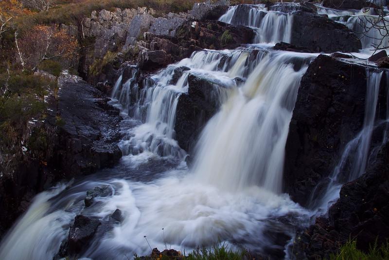 Waterfall at Assynt. Sutherland. Scotland.