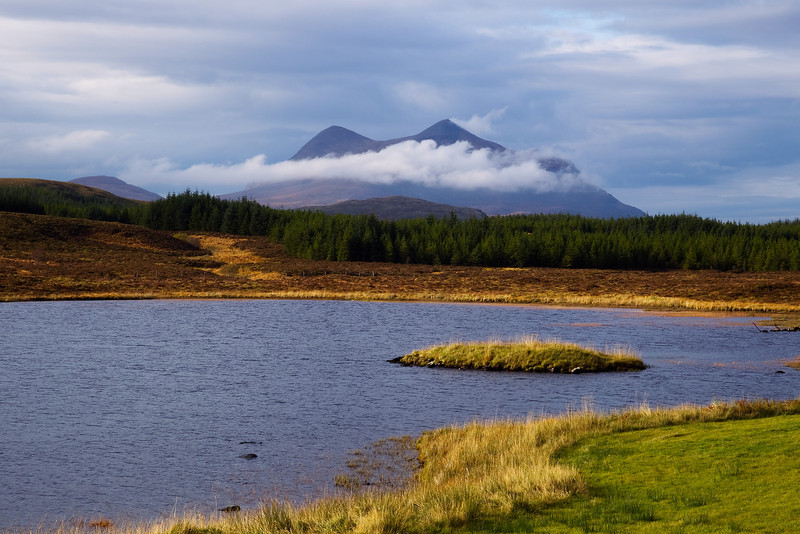 The mountain of Cul Mor in the cloud. Assynt. Sutherland.