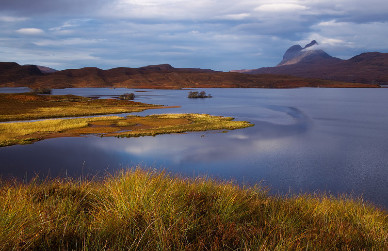 Assynt with the Mountain of Suilven in the background. Sutherland Scotland.