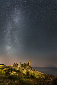 Castle under the stars
