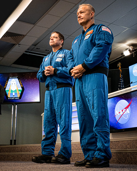 NASA astronauts Bob Behnken and Doug Hurley in January 2020.