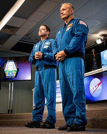 NASA astronauts Bob Behnken and Doug Hurley in January 2020.