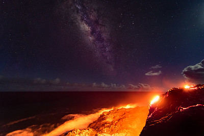 Milky Way and Lava Flow