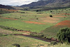 Over the Makhalaneng River - to the cultivated fields along the lower foothill slopes of the Thaba Putsoa Mountains - Lesotho.
