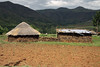 Sotho dwelling in the foothills of the Thaba Putsoa Mountain - Lesotho.