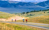 Cyclists near Lemhi Pass on Lewis & Clark Trail, ID-MT border - 4-2 - 72 ppi-2