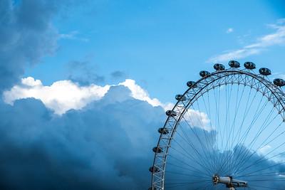 London Eye, London sky
