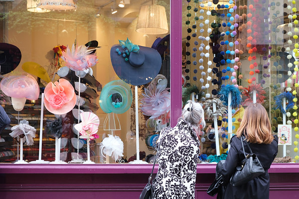Shopping for hats in Marylebone